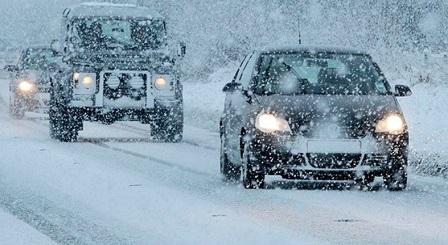 Движение транспорта, из-за сильных снегопадов, в некоторых областях ограничено