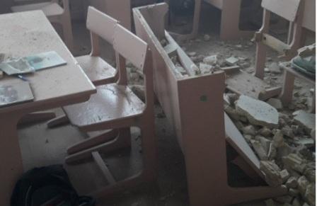 В гимназии на Черниговщине во время перемены обвалился потолок
